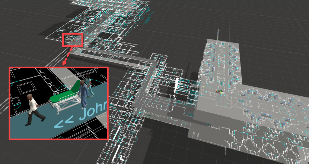 UTMB 3D model layout