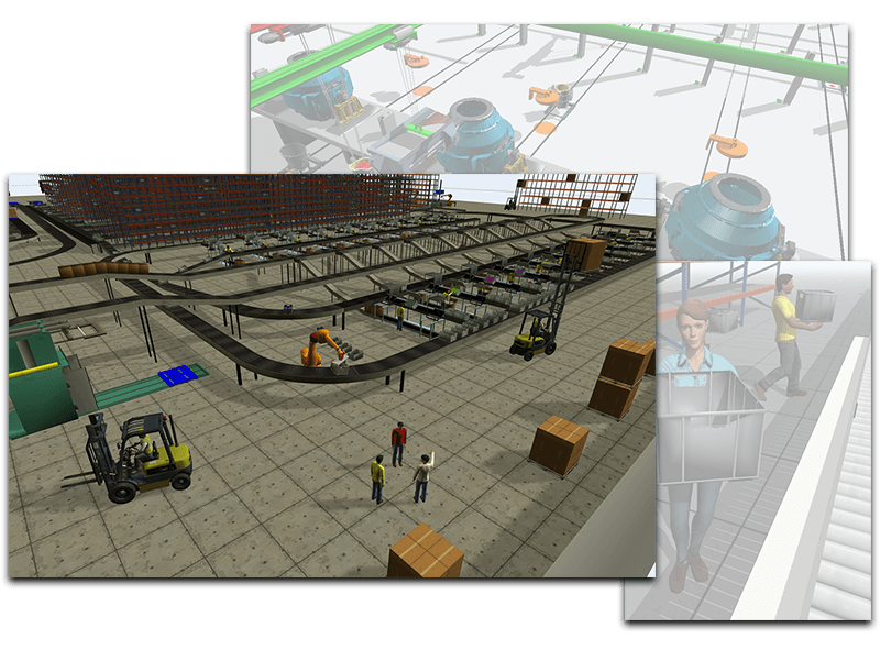 Examples of 3D simulation