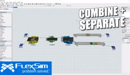 Combine and Separate Items in FlexSim