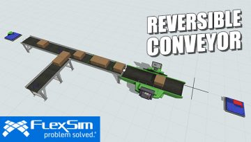 FlexSim 2018 Update 2 Reversible Conveyor
