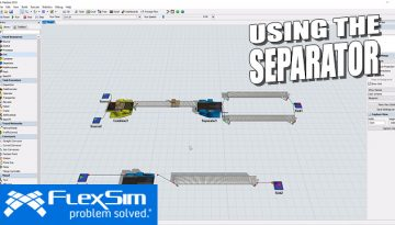 Using the Separator in FlexSim
