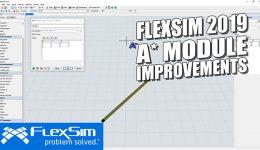 FlexSim 2019: AStar Module Improvements