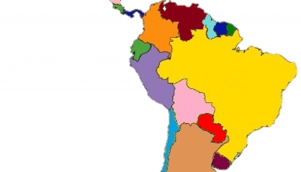 South America map of con