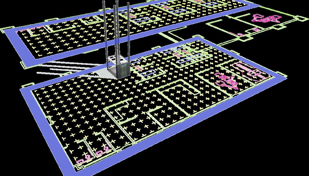 FlexSim multi floor model