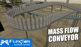 FlexSim's Mass Flow Conveyor