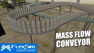 FlexSim's Mass Flow Conveyor