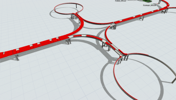 FlexSim 2021 Mass Flow Conveyor