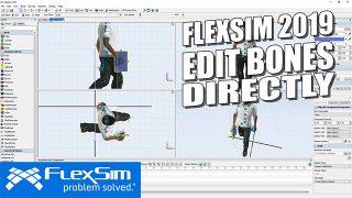 FlexSim 2019: Edit Bones Directly