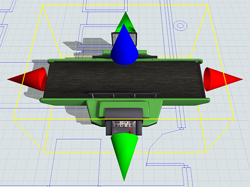 Our 3-axis layout and CAD drawing import help you maintain the exact spatial relationships in the actual system, so travel and transport times will be accurate.