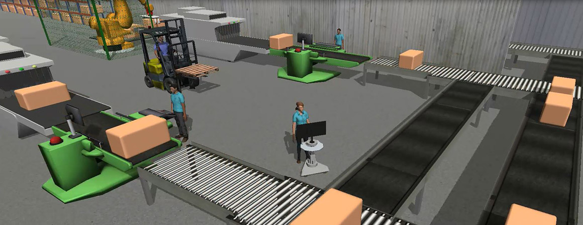 Factory Simulation in FlexSim