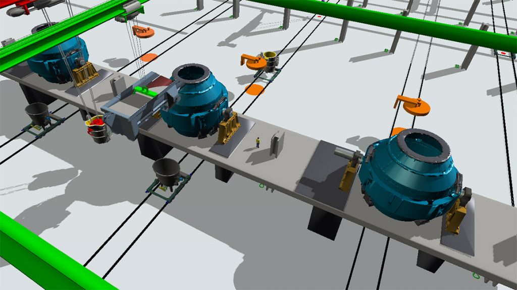 Manufacturing Simulation, Steel Production