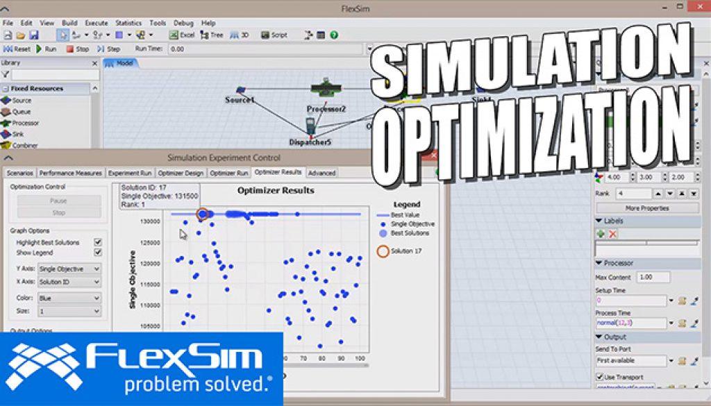 FlexSim Simulation Optimization w/ OptQuest