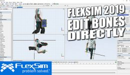 FlexSim 2019: Edit Bones Directly