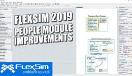 FlexSim 2019: People Module Improvements