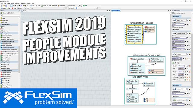 FlexSim 2019: People Module Improvements