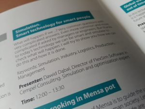 FlexSim in EU Mensa Conference