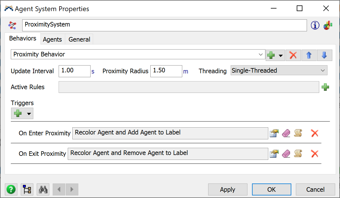 Agent System Proximity properties